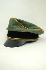 WWII German Waffen Elite Cavalry / Recon Wool Crusher Visor Cap