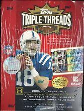 2006 Triple Threads Factory Sealed Football Hobby Box  Jay Cutler Auto RC ??