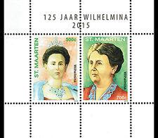 Sint Maarten - Postfris / MNH - Sheet 125 years Queen Wilhelmina 2015