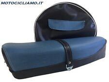 Sella Vespa 50 / 125 ET3 con serratura bicolore blu scuro-jeans + copriruota R10