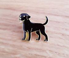 Black Labrador Dog Enamel Pin Badge