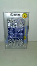 NEW iCover bling case   SPARKLE Apple Iphone 4/4S Glitter/Bling Dark Blue&Silver