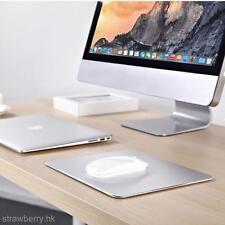 25*20CM Aluminum Alloy Surface Hard Mouse Mat Pad Non-slip Rubber Base New