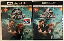 JURASSIC WORLD FALLEN KINGDOM 4K ULTRA HD BLU RAY 2 DISC SET + SLIPCOVER SLEEVE