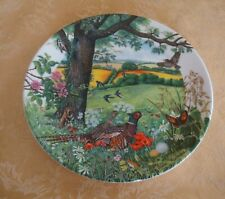 """Wedgwood Bone China Plate """"Meadows and Wheatfields"""" Limited Edition 1987"""