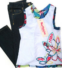 WITCHERY Girls Denim Jeans * BEETLEJUICE LONDON Top * Size 7 * NEW * RRP: $75