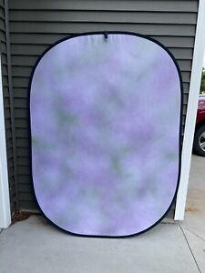 Photography Backdrop Portable Twist & Fold Background Purple/Green
