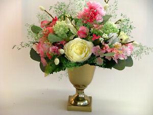 Strauß Blumen Seidenblumen Kirschblüten Ranunkel Wicke Cosmea rosa weiß