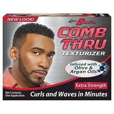 Lusters S Curl Comb Thru Hair Kit Extra Strength With Olive & Argan Oil Curls