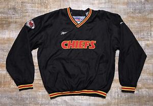 VTG 00s Kansas City Chiefs Reebok NFL Pro Line Pullover Jacket Adult Sz M RARE