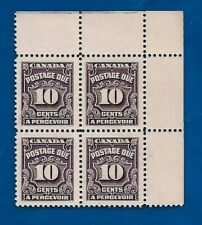 vintage CANADA 1935 TEN 10 cents postage due stamp block MNH MINT Canadian