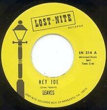 THE LEAVES - HEY JOE - LOST NITE - REISSUED 45