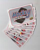 (62953) 2009-10 UPPER DECK HOCKEY HEROES MARTIN BRODEUR HH10 to 17 + HEADER