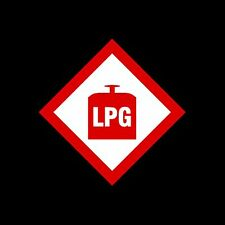 LPG WARNING STICKER, CARAVAN, MOTORHOME, 100x100mm x2