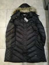 Ladies womans wet look shiny black puffa puffer winter jacket coat size 12-22 UK
