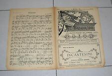 Spartito IL MANDOLINO 1937 INCANTESIMI Mario Bacci chitarra Liberty mandolin