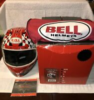 Bell Vortex Motorcycle Helmet Snell M2010/DOT Torn Red Rogue Size M Like New