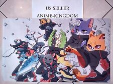 Custom Yugioh Playmat Play Mat Large Mouse Pad Naruto Akatsuki Cat Meow #402