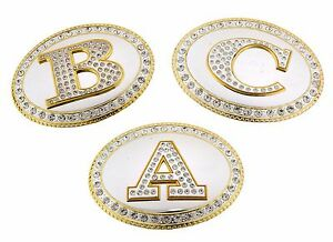Initial Letter A B C G J M R S T Belt Buckle Hebilla de cinturón inicial Western
