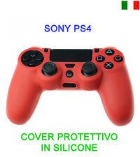 CUSTODIA COVER SILIC. ROSSO CONTROLLER JOYSTICK SONY PLAYSTATION PS4 PROTEZIONE