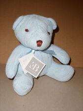 Elegant Baby Plush Cable Knit Blue Soft Stuffed Teddy Bear NWT 9 IN