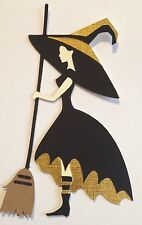 Harry Potter Inspired Hufflepuff Witch Die Cut Handmade Embellishment Scrapbook
