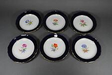 Meissen  6 Teller Kuchenteller Brotzeitteller Beilagenteller plate porcelain set