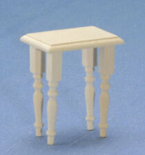 Dollhouse Miniatures 1:12 Scale End Table, Unfinished #CLA08660