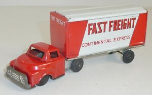"""HAJI Toys GMC o. Ford LKW """"Fast Freight Continental"""" Friction Blech ca. 15,5 cm"""
