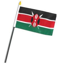 "Kenya 4""x6"" Flag Desk Table Stick"