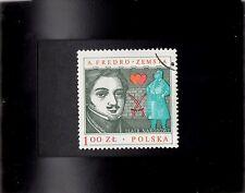 Framed Stamp Art - Collectible Poland Postage Stamp