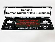 VW Golf  Wolfsburg Edition Number Plate Surrounds  GTI  R32 - Pair