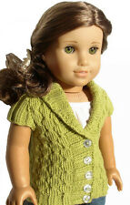 Knitting Pattern - Olive Cardigan Sweater For American Girl 18 Inch Doll Clothes