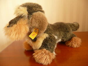 Steiff Stofftier Hund Dackel Raudi EAN-Nr.4151/25, 25 cm, neuwertig