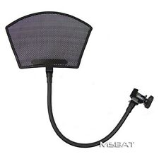 Recording Studio Microphone POP Filter Louvered Metal Mesh Arched Top