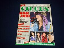 1987 APRIL 30 CIRCUS MAGAZINE - BON JOVI - MUSIC CENTERFOLD - B 1818