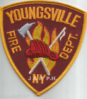 """Youngsville  Fire Dept., New York (4"""" x 4.5"""" size)  fire patch"""