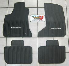 2011-2017 Dodge Charger AWD All Weather Black Rubber Slush Floor Mats Mopar OEM