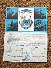 Vintage Surfboards Gordie price list surfboard 1960s newport beach california