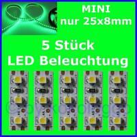 S504 - 5 Stück MINI LED Modellbeleuchtung 2,5cm GRÜN Beleuchtung Häuser Autos