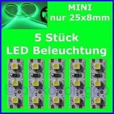 S504 - 5 Pcs Mini LED Model Lighting 2,5cm Green Lighting Houses Cars
