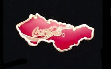 Czechoslovakia~Coca Cola Pin Badge~Vintage~in the shape of the country~Coke