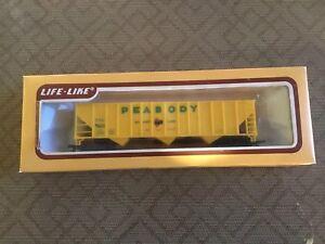 LIFE LIKE 100 Tons Hopper PEABODY SHORT LINE HO Scale Train #8435 NEW IN BOX !!!