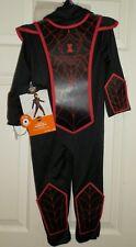 New Toddler Boys 2T-3T Venom Ninja Costume Spider Black Red Jumpsuit Belt Man