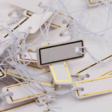 1000X Rectangular Strung String Tie Jewelry Display Merchandise Label Price Tags