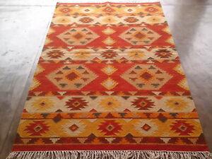 ORIGINAL Handmade Afghan Tribal Chobi Kilim Wool REVERSIBLE Rug 4x6 feet