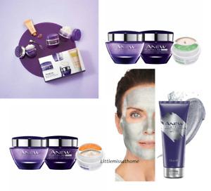 AVON ANEW PLATINUM SKINCARE 65+ MATURE SKIN day night eye cream water serum mask