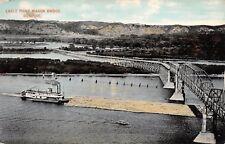 Dubuque Iowa Eagle Point Wagon Bridge River Steamer