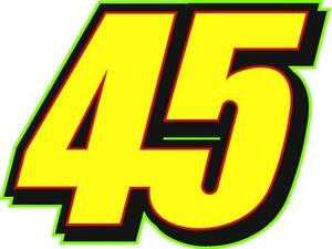 NEW FOR 2019 - #45 Adam Petty Racing Sticker Decal - SM thru XL - various colors