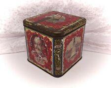 More details for vintage/antique tea caddy/tin-mazawattee-king george v royal souvenir